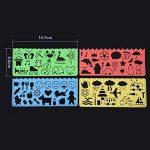 20 Feuilles 21 par 28 cm Magic Scratch Scratch Paper Noir Papier de Peinture avec 2 Pièces Stylet en Bois et 4 Pièces Règles de Peinture de la marque BBTO image 4 produit