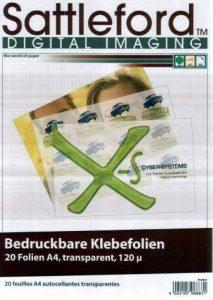 20 feuilles A4 autocollantes transparentes de la marque Sattleford image 0 produit