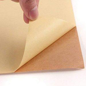 20Feuilles de format A4Kraft Autocollant Mat/Sticky Autocollant étiquettes d'adresses papier d'impression de feuilles de la marque EVG image 0 produit