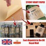 20Feuilles de format A4Kraft Autocollant Mat/Sticky Autocollant étiquettes d'adresses papier d'impression de feuilles de la marque EVG image 4 produit