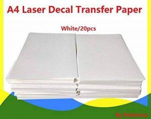 20Feuilles DIY Eau Laser A4de papier pour décalcomanie transfert Feuilles de papier blanc type de la marque Rolurious image 0 produit