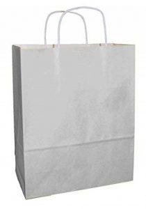 20 Gris Claro sacs en papier qualité premium avec poignées - Taille 250x110x310mm de la marque Thepaperbagstore image 0 produit