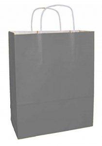 20 Gris sacs en papier qualité premium avec poignées - Taille 250x110x310mm de la marque Thepaperbagstore image 0 produit
