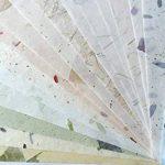 20Papier mûrier Taille Feuille A4Motif Craft fabriqué à la main Art Soie Japon Origami Washi Wholesale Bulk vente Unryu Elle Thaïlande Products Fabrication de cartes de la marque MulberryPaperStock image 1 produit