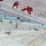 20Papier mûrier Taille Feuille A4Motif Craft fabriqué à la main Art Soie Japon Origami Washi Wholesale Bulk vente Unryu Elle Thaïlande Products Fabrication de cartes de la marque MulberryPaperStock image 2 produit
