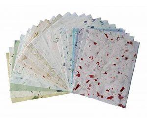 20Papier mûrier Taille Feuille A4Motif Craft fabriqué à la main Art Soie Japon Origami Washi Wholesale Bulk vente Unryu Elle Thaïlande Products Fabrication de cartes de la marque MulberryPaperStock image 0 produit