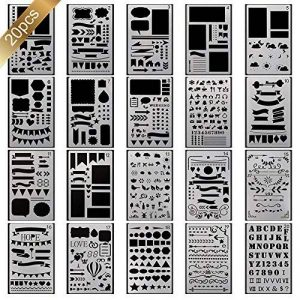 20 pochoir bullet journal plus de 1000 différents modèles de plastique Planner DIY modèle de dessin 10,2 x 17,8 cm pochoir peinture pour la carte scrapbooking et projets artistiques de la marque Smallones image 0 produit