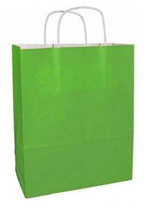 20 Vert sacs en papier qualité premium avec poignées - Taille 250x110x310mm de la marque Thepaperbagstore image 0 produit