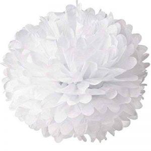 20 x Pompons de papier de soie blanc de haute qualité en différentes tailles (35cm, 25cm, 15cm) pour Mariage Décor, fêtes, décoration (35cm) de la marque Sky image 0 produit