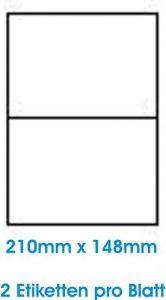 200 pcs. BLANC étiquettes étiquette adhésive de l'étiquette d'adresse Format 210x148mm, 100 feuilles DIN A4, 70g/qm, approprié pour les imprimantes à jet d'encre, imprimantes laser et photocopieurs. de la marque Print4Life image 0 produit