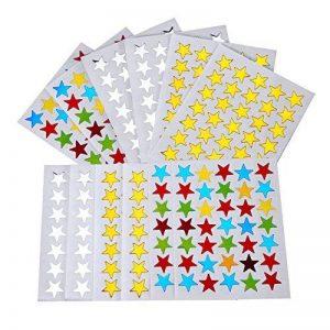 2100 Count Autocollants Étoiles Or Argent Coloré Auto-adhésif de la marque eBoot image 0 produit