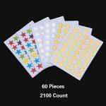 2100 Count Autocollants Étoiles Or Argent Coloré Auto-adhésif de la marque eBoot image 1 produit