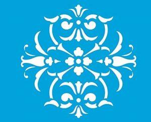 21cm x 17cm Pochoir Réutilisable en Plastique Transparent Souple Trace Gabarit Traçage Illustration Conception Murs Toile Tissu Meubles Décoration Aérographe Airbrush - Fleurs Feuilles de la marque Litoarte image 0 produit