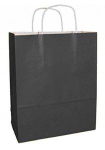 25 sacs en papier qualité premium avec poignées - Noir - Taille 250x110x310mm de la marque Thepaperbagstore image 0 produit