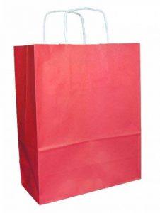 25 sacs en papier qualité premium avec poignées - Rouge - Taille 250x110x310mm de la marque Thepaperbagstore image 0 produit