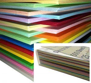 250 feuilles Papier Cartonné / Carte / Carton A4 160gm de couleur - Assortiment de 25 couleurs de la marque DALTON MANOR image 0 produit