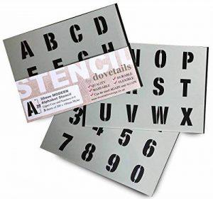 30mm de haut (3cm) lettres de l'alphabet Pochoir lettres/chiffres 0–9sur 3x Feuilles de 200x 148mm moderne en majuscules de la marque Dovetails image 0 produit
