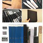 36 PCS Set d'art de Crayons Fusain Pour Dessin et croquis, Materiel Dessin Professionnel Gommes à effacer et aiguisoirs Carnet de croquis a5 - idéal pour les travaux scolaires et professionnels de la marque Flyv image 2 produit