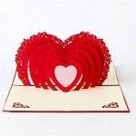 3d Pop Up Cartes de vœux Fantastique Fleur faite à la main carte cadeau Origami et Kirigami pour la Saint Valentin Anniversaire anniversaire d'invitation de mariage Amour cadeaux, Rows of Red Roses de la marque Ragetorc image 2 produit