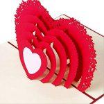 3d Pop Up Cartes de vœux Fantastique Fleur faite à la main carte cadeau Origami et Kirigami pour la Saint Valentin Anniversaire anniversaire d'invitation de mariage Amour cadeaux, Rows of Red Roses de la marque Ragetorc image 4 produit