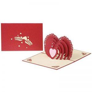 3d Pop Up Cartes de vœux Fantastique Fleur faite à la main carte cadeau Origami et Kirigami pour la Saint Valentin Anniversaire anniversaire d'invitation de mariage Amour cadeaux, Rows of Red Roses de la marque Ragetorc image 0 produit