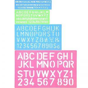 4 Pièces Pochoir Lettrage Pochoir Alphabet Pochoir Lettre Nombre de Bateaux Règle Plastique Jeu de Guides de Pochoirs Décoratifs, Divers Coloris de la marque Shappy image 0 produit