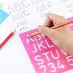 4 Pièces Pochoir Lettrage Pochoir Alphabet Pochoir Lettre Nombre de Bateaux Règle Plastique Jeu de Guides de Pochoirs Décoratifs, Divers Coloris de la marque Shappy image 3 produit