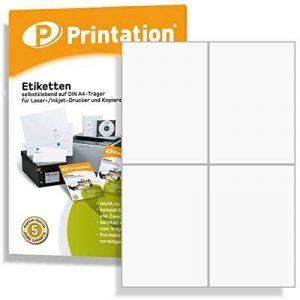 400 Étiquettes autocollantes sur 105 x148 a4 5 mm (blanc) de la marque Printation image 0 produit