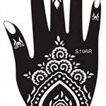 5 Feuilles Mehndi Tatouage Pochoir pour la main Hand 5 Mehndi Tatouages au henné Set 3 à usage unique - pour tatouage au henné, tatouage paillettes et aérographe tatouage de la marque Beyond Paradise image 1 produit