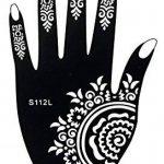 5 Feuilles Mehndi Tatouage Pochoir pour la main Hand 5 Mehndi Tatouages au henné Set 3 à usage unique - pour tatouage au henné, tatouage paillettes et aérographe tatouage de la marque Beyond Paradise image 2 produit
