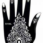 5 Feuilles Mehndi Tatouage Pochoir pour la main Hand 5 Mehndi Tatouages au henné Set 3 à usage unique - pour tatouage au henné, tatouage paillettes et aérographe tatouage de la marque Beyond Paradise image 3 produit