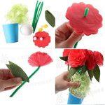 5 jeux d'enfants coloré bricolage en pot de fleurs en papier décoratifs de la marque Blancho image 1 produit