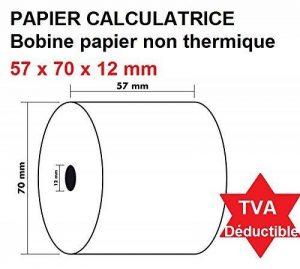5 Rouleaux de recharge pour calculatrices et caisses enregistreuses à impression NON THERMIQUE papier 1 feuille électrique bobine Blanc 57 x 70 x 12 mm Bobine Comptable 57x70 Afn7 60g de la marque UNIVERS GRAPHIQUE image 0 produit