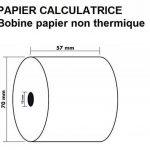 5 Rouleaux de recharge pour calculatrices et caisses enregistreuses à impression NON THERMIQUE papier 1 feuille électrique bobine Blanc 57 x 70 x 12 mm Bobine Comptable 57x70 Afn7 60g de la marque UNIVERS GRAPHIQUE image 2 produit