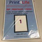 50 feuilles A4 papier adhésif blanc; Utilisé pour toutes les imprimantes jet d'encre! de la marque Print4Life image 1 produit