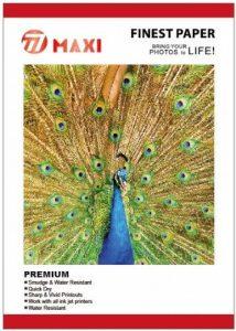 50 Feuilles de 4X6 Pouces 210gsm brillant Photo Papier Oeuvres Avec Tout imprimeur Inkjets de la marque Maxi image 0 produit