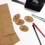 50 feuilles papier kraft - Papier Kraft DIN A4 280 g/m² Nature Carton de grande qualité Idéal pour travaux manuels, 3D Marron de la marque Partycards image 3 produit