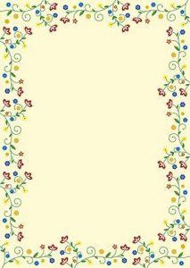 50feuilles papier à lettre papier à motif–Fleurs colorées–Style vintage 51032 de la marque Ideenstadl image 0 produit