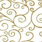 50 Mètres x 80cm Parchemin Design Torsadé Impression - Dorés sur transparent Cellophane Cadeau De Film Rouleau de la marque Gemsupplies image 1 produit