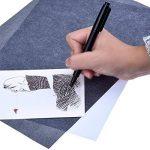 50 Pièces Feuilles Tatouage Feuille de Transfert de Carbone pour Bois, Papier, Toile (9 x 13 Pouces) de la marque Outus image 2 produit
