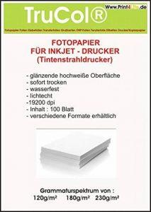 500 feuilles de papier photo brillant Cartes 10x15 230g /m² Photo Cards de la marque trucol image 0 produit