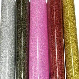 5pcs 25cm x 25cm HTV Vinyle de Transfert en Chaleur adhésif permanent dos couleurs assorties Craft projets de la marque SuperHandwerk image 0 produit