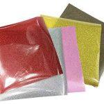 5pcs 25cm x 25cm HTV Vinyle de Transfert en Chaleur adhésif permanent dos couleurs assorties Craft projets de la marque SuperHandwerk image 2 produit