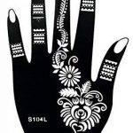6 Feuilles Mehndi Tatouage Pochoir pour la main Hand 6 Mehndi Tatouages au henné Set 4 à usage unique - pour tatouage au henné, tatouage paillettes et aérographe tatouage de la marque Beyond Paradise image 2 produit