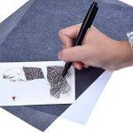 60 Feuilles Papier de Transfert de Carbone Papier de Traçage pour le Bois, Papier, Toile(8.5 par 11 Pouces) de la marque Outus image 2 produit
