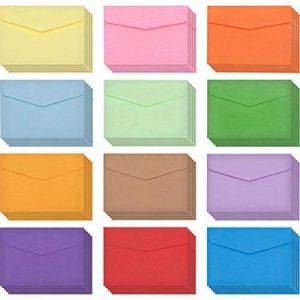 60 Pièces Mini Enveloppes Multi Couleur Mignon Enveloppes (4,6 x 3,2 Pouces) pour Mariage de Cartes, Fournitures de Fête d'Anniversaire de la marque Bememo image 0 produit