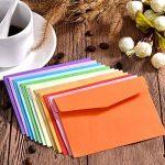 60 Pièces Mini Enveloppes Multi Couleur Mignon Enveloppes (4,6 x 3,2 Pouces) pour Mariage de Cartes, Fournitures de Fête d'Anniversaire de la marque Bememo image 4 produit