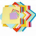 600feuilles Origami papier geschnittene faltpapier 71013152025cm doppelseite 10Färbige Set de papier pour origami de bricolage et de papier projets avec couleurs Vert Bleu Violet Rouge Jaune Rose de la marque Aehma image 3 produit