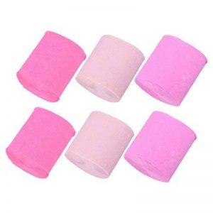 6PCS 10m rouleau de papier crêpe Rolls pour mariage anniversaire fête décoration enfants à la main rose de la marque eastar image 0 produit