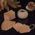 7 * 4 cm Carte Étiquette Brun de Papier Kraft Étiquette pour Cadeau, Bagage, Mariage avec 30 Mètres Ficelle, 100 Pièces de la marque Mudder image 1 produit